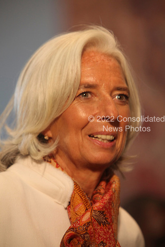 IMF Chief Christine LaGarde attends the Delegates Luncheon at the United Nations 68th General Assembly in New York, New York on Tuesday, September 24, 2013.<br /> Credit: Allan Tannenbaum / Pool via CNP