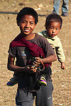 The Konyak tribe no longer carry out headhunting raids on neighbouring villages, due to Christian Missionary interference in the 20th century. While these two boys will grow up in a peaceful environment, they will no longer practice many other traditional customs of young Konyak men.