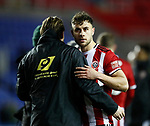 George Baldock of Sheffield Utd celebrates during the FA Cup match at the Madejski Stadium, Reading. Picture date: 3rd March 2020. Picture credit should read: Simon Bellis/Sportimage
