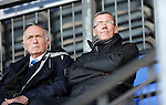 St Johnstone v Stranraer...01.11.15   Little Big Shot Youth Cup 3rd Round, McDiarmid Park, Perth<br /> Saints legend Tommy Turner (right) watching his son Kyle Turner playing for Stranraer<br /> Picture by Graeme Hart.<br /> Copyright Perthshire Picture Agency<br /> Tel: 01738 623350  Mobile: 07990 594431