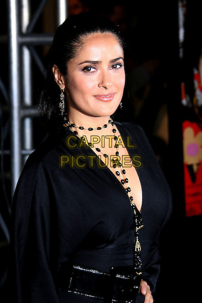 "SALMA HAYEK.AFI Fest 2006 Presented by Audi Hosts a Tribute Penelope Cruz and a Presentation of ""Volver"" - Arrivals held at ArcLight's Cinerama Dome, Hollywood, California, USA,.2 November 2006..half length dress black beads necklace top.Ref: ADM/ZL.www.capitalpictures.com.sales@capitalpictures.com.©Zach Lipp/AdMedia/Capital Pictures."