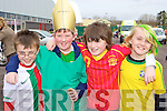St Patrick and his World Cup buddies in the Castleisland St Patricks Day parade l-r: Kevin Keane, Daniel Cronin, Neil Brosnan and Johnaton Keane Castleisland