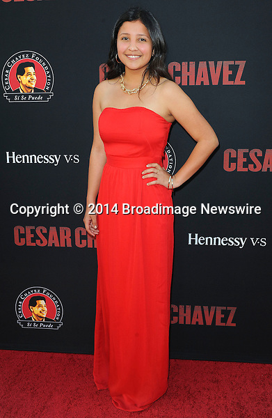 Pictured: Daniela Chavez<br /> Mandatory Credit &copy; Adhemar Sburlati/Broadimage<br /> Film Premiere of Cesar Chavez<br /> <br /> 3/20/14, Hollywood, California, United States of America<br /> <br /> Broadimage Newswire<br /> Los Angeles 1+  (310) 301-1027<br /> New York      1+  (646) 827-9134<br /> sales@broadimage.com<br /> http://www.broadimage.com