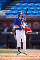 St. Lucie Mets first baseman Kevin Taylor (12) at bat during a game against the Brevard County Manatees on April 17, 2016 at Tradition Field in Port St. Lucie, Florida.  Brevard County defeated St. Lucie 13-0.  (Mike Janes/Four Seam Images)