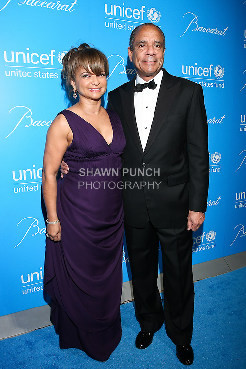 Kathy Chenault, and Kenneth Chenault CEO and Chairman of American Express, arrive at the UNICEF Snowflake Ball, Presented by Baccarat, at Cipriani 42nd Street, November 30, 2010.