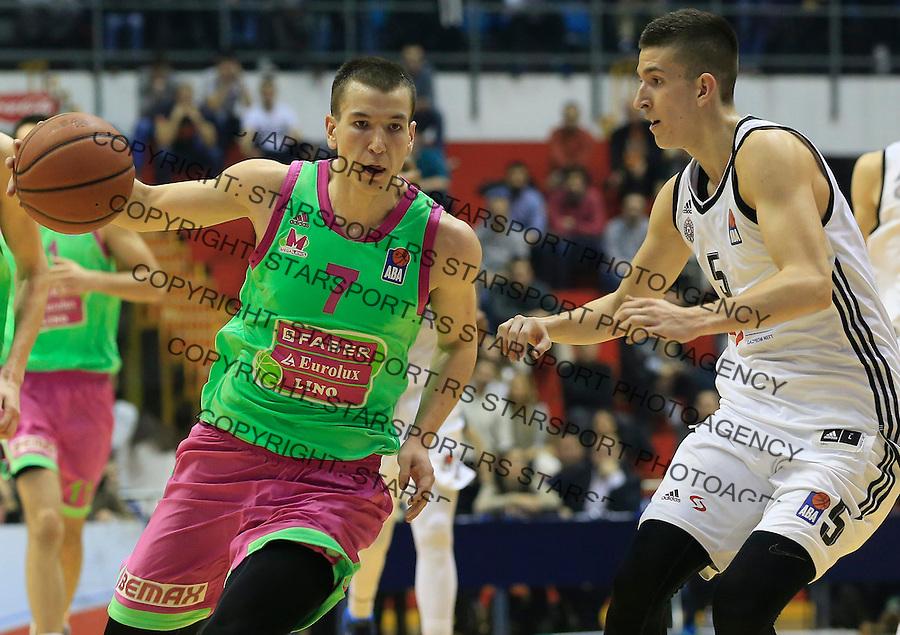 sKosarka ABA League season 2015-2016<br /> Partizan v Mega Leks<br /> Petar Aranitovic (R) and his brother (brat) Aleksandar Aranitovic (L)<br /> Beograd, 19.12.2015.<br /> foto: Srdjan Stevanovic/Starsportphoto&copy;