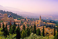 Overview of Assisi, Umbria, Italy
