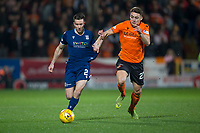 27th December 2019; Dens Park, Dundee, Scotland; Scottish Championship Football, Dundee Football Club versus Dundee United; Cammy Kerr of Dundee takes on Louis Appere of Dundee United  - Editorial Use