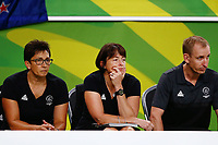 Head Coach Janine Southby of New Zealand looks on. Gold Coast 2018 Commonwealth Games, Netball, New Zealand Silver Ferns v England, Gold Coast Convention and Exhibition Centre, Gold Coast, Australia. 11 April 2018 © Copyright Photo: Anthony Au-Yeung / www.photosport.nz /SWpix.com