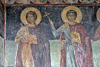 BG61211.JPG BULGARIA, BLACK SEA COAST, NESSEBAR, CHURCH OF ST STEPHAN, 10TH CENTURY, FRESCOS