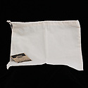 Recyclable white cotton drawstring produce bag