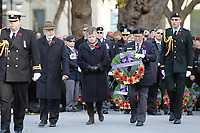 Montreal, CANADA - Nov 11 -  Pierre Duchesne, Lieutenant Governor of Quebec and Denis Coderre, Mayor of Montreal attend the ceremony of Remembrance Day, november 11, 2014 in downtown Montreal.<br /> <br /> Photo :  Agence Quebec Presse - Pierre Roussel