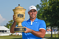 Brooks Koepka (USA) holds the trophy for winning the WGC FedEx St. Jude Invitational, TPC Southwind, Memphis, Tennessee, USA. 7/28/2019.<br /> Picture Ken Murray / Golffile.ie<br /> <br /> All photo usage must carry mandatory copyright credit (© Golffile | Ken Murray)