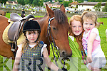 Pictured at the Killorglin Pony Show on Sunday were Eimear Burke, Rachel Sheahan and Naoise Burke.