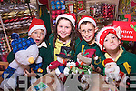 It's Christmas every day at the Christmas Shop in Market Street, Shea Doran, Muireann Dowling, Michael Kennedy and Cathal Doran check the wide range of decorations that are available.