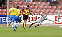 01/09/2007       Copyright Pic: James Stewart.File Name : sct_jspa01_partick_v_hamilton.RICHARD OFFIONG SCORES HAMILTON'S FIRST....James Stewart Photo Agency 19 Carronlea Drive, Falkirk. FK2 8DN      Vat Reg No. 607 6932 25.Office     : +44 (0)1324 570906     .Mobile   : +44 (0)7721 416997.Fax         : +44 (0)1324 570906.E-mail  :  jim@jspa.co.uk.If you require further information then contact Jim Stewart on any of the numbers above........
