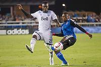 San Jose, CA - Saturday, October 3, 2015: The San Jose Earthquakes tie Vancouver Whitecaps FC 1-1 at Avaya Stadium.