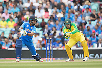 Shikhar Dhawan (India) cuts backward of point during India vs Australia, ICC World Cup Cricket at The Oval on 9th June 2019