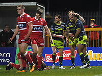 Picture by Anna Gowthorpe/SWpix.com - 02/02/2018 - Rugby League - Betfred Super League - Hull KR v Wakefield Trinity - KC Lightstream Stadium, Hull, England -  Wakefield Trinity's Bill Tupou celebrates his try with team-mates