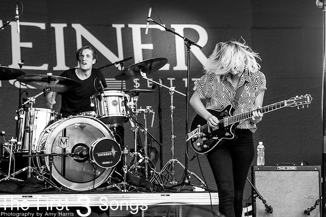 Emily Armstrong and Sean Friday of Dead Sara perform at the 2014 Bunbury Music Festival in Cincinnati, Ohio