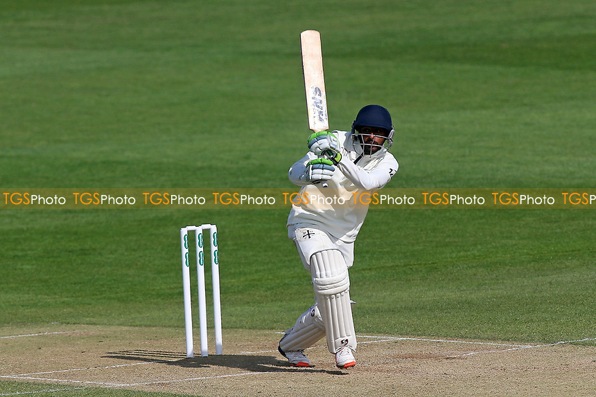 Abhiraj Singh in batting action for Durham during Essex CCC vs Durham MCCU, English MCC University Match Cricket at The Cloudfm County Ground on 3rd April 2017