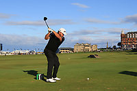 Graeme McDowell (NIR) on the 18th tee during Round 3 of the Alfred Dunhill Links Championship 2019 at St. Andrews Golf CLub, Fife, Scotland. 28/09/2019.<br /> Picture Thos Caffrey / Golffile.ie<br /> <br /> All photo usage must carry mandatory copyright credit (© Golffile | Thos Caffrey)