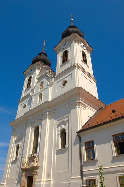 Benedictine Abbey and Church on Lake Balaton.  Tihany Balaton Hungary