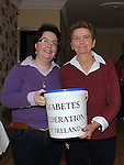 Sinead Cowley and Mary Hand pictures at the tea for diabetes day in Ardee. Photo: Colin Bell/pressphotos.ie