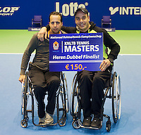 21-12-13,Netherlands, Rotterdam,  Topsportcentrum, Tennis Masters, Final doubles man's wheelchair:  runners up :  Berry Korst and Koen Meerwijk (NED)(L)<br /> Photo: Henk Koster