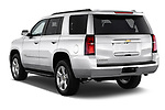 Rear three quarter view of a 2015 Chevrolet Tahoe 2WD LT 5 Door SUV
