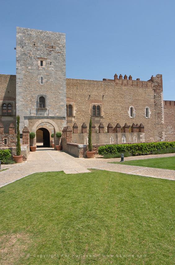 Palais des Rois de Majorque, Palace of the Majorca Kings. Perpignan, Roussillon, France.