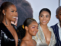 "LOS ANGELES, USA. April 08, 2019: Issa Rae, Marsai Martin & Regina Hall at the premiere of ""Little"" at the Regency Village Theatre.<br /> Picture: Paul Smith/Featureflash"