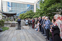 NEW YORK CITY, UNITED STATES SEPTEMBER 16: Secretary-General Ban Ki-moon speech during the 2016 Peace Bell ceremony at the United Nations Headquarters in New York. Photo by VIEWpress/Maite H. Mateo