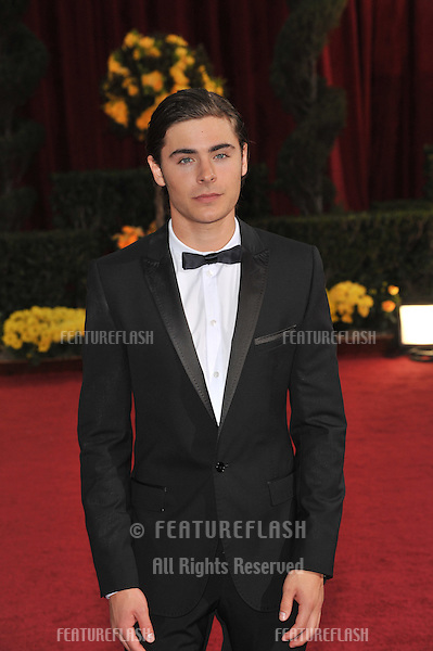 Zac Efron at the 81st Academy Awards at the Kodak Theatre, Hollywood..February 22, 2009  Los Angeles, CA.Picture: Paul Smith / Featureflash