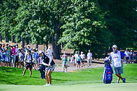 Shanshan Feng (CHN) chips on to 9 during Sunday's final round of the 72nd U.S. Women's Open Championship, at Trump National Golf Club, Bedminster, New Jersey. 7/16/2017.<br /> Picture: Golffile | Ken Murray<br /> <br /> <br /> All photo usage must carry mandatory copyright credit (&copy; Golffile | Ken Murray)