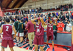 WEST HARTFORD, CT. 15 March 2018-031518BS12 - Windsor players show their dejection after getting beat by Sacred Heart in the Div I semi-finals between Sacred Heart vs Windsor at University of Hartford on Thursday evening. Sacred Heart won in a thriller 59-58 over Windsor and advances to the finals at Mohegan Sun. Bill Shettle Republican-American