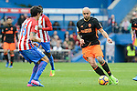 Atletico de Madrid's Stefan Savic and Valencia CF's Simone Zaza during La Liga match between Atletico de Madrid and Valencia CF at Vicente Calderon Stadium  in Madrid, Spain. March 05, 2017. (ALTERPHOTOS/BorjaB.Hojas)