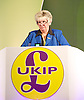 UKIP Annual Party Conference <br /> 26th September 2014 <br /> at Doncaster Racecourse, Great Britain <br /> <br /> <br /> Speeches by <br /> <br /> Judith Morris <br /> Chairman UKIP Yorks &amp; Lincs <br /> <br /> <br /> Photograph by Elliott Franks <br /> Image licensed to Elliott Franks Photography Services