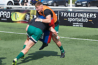 Players warming up before the 2019/20 Pre Season Friendly match between Ealing Trailfinders and Bishop's Stortford at Castle Bar , West Ealing , England  on 24 August 2019. Photo by Alan  Stanford / PRiME Media images