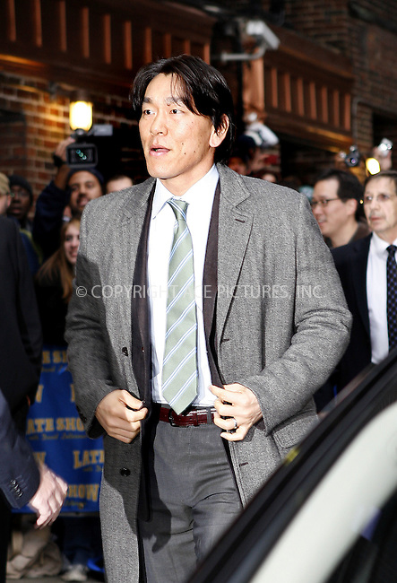 WWW.ACEPIXS.COM . . . . .  ....November 5 2009, New York City....Baseball player Hideki Matsui of the New York Yankees made an appearance at the 'Late Show With David Letterman' at the Ed Sullivan Theater on November 5, 2009 in New York City.....Please byline: NANCY RIVERA- ACE PICTURES.... *** ***..Ace Pictures, Inc:  ..tel: (212) 243 8787 or (646) 769 0430..e-mail: info@acepixs.com..web: http://www.acepixs.com