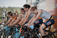 Anna van der Breggen (NED/Boels-Dolmans) &amp; teammates warming up<br /> <br /> Women's Team Time Trial<br /> <br /> UCI 2017 Road World Championships - Bergen/Norway