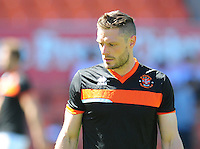 Blackpool Fitness Coach Dan Birdsall during the pre-match warm-up <br /> <br /> Photographer Kevin Barnes/CameraSport<br /> <br /> Football - The EFL Sky Bet League Two - Blackpool v Exeter City - Saturday 6th August 2016 - Bloomfield Road - Blackpool<br /> <br /> World Copyright &copy; 2016 CameraSport. All rights reserved. 43 Linden Ave. Countesthorpe. Leicester. England. LE8 5PG - Tel: +44 (0) 116 277 4147 - admin@camerasport.com - www.camerasport.com