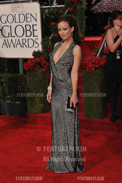 Olivia Wilde at the 67th Golden Globe Awards at the Beverly Hilton Hotel..January 17, 2010  Beverly Hills, CA.Picture: Paul Smith / Featureflash
