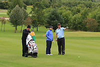 Emily Donohue &amp; Eoin Flanagan (Tullamore) on the 1st fairway during the Final round of the Irish Mixed Foursomes Leinster Final at Millicent Golf Club, Clane, Co. Kildare. 06/08/2017<br /> Picture: Golffile | Thos Caffrey<br /> <br /> <br /> All photo usage must carry mandatory copyright credit      (&copy; Golffile | Thos Caffrey)