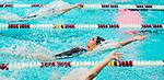 NAUGATUCK ,  CT-101019JS14- Seymour's Kelti Johnson competes in the 100 Yard Backstroke during their meet with Naugatuck Friday at Naugatuck High School. <br /> Jim Shannon Republican-American