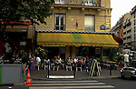 Café in the Boulevard de la Bastille. Bastille area,Paris, France.
