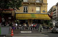 Café in the Boulevard de la Bastille. Bastille area,Paris, France.
