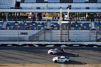 #97 Automatic Racing Aston Martin Vantage GT4, GS: Rob Ecklin Jr., Brandon Kidd, Ramin Abdolvahabi, #31 Bodymotion Racing Porsche Cayman GT4 MR, GS: Pete McIntosh, Patrick Liddy, Marc Miller