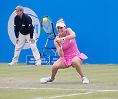 June 13th 2017, Nottingham, England; WTA Aegon Nottingham Open Tennis Tournament day 4;  Alison Riske of USA defeats Heather Watson of Great Britain in two sets