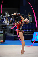 September 9, 2009; Mie, Japan;  Olga Kapranova of Russia performs with ribbon during qualification round at 2009 World Championships Mie. Olga was 2005 world champion at Baku, a 2008 Olympian for Russia at the Beijing Olympics. Photo by Tom Theobald.